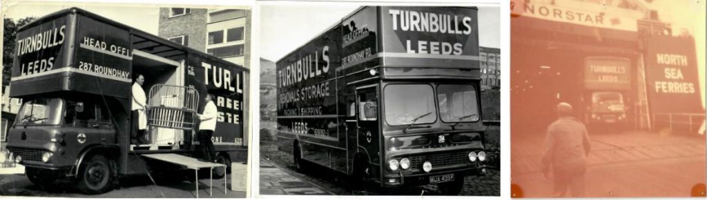 Black & White Turnbull's Removals Vans 2