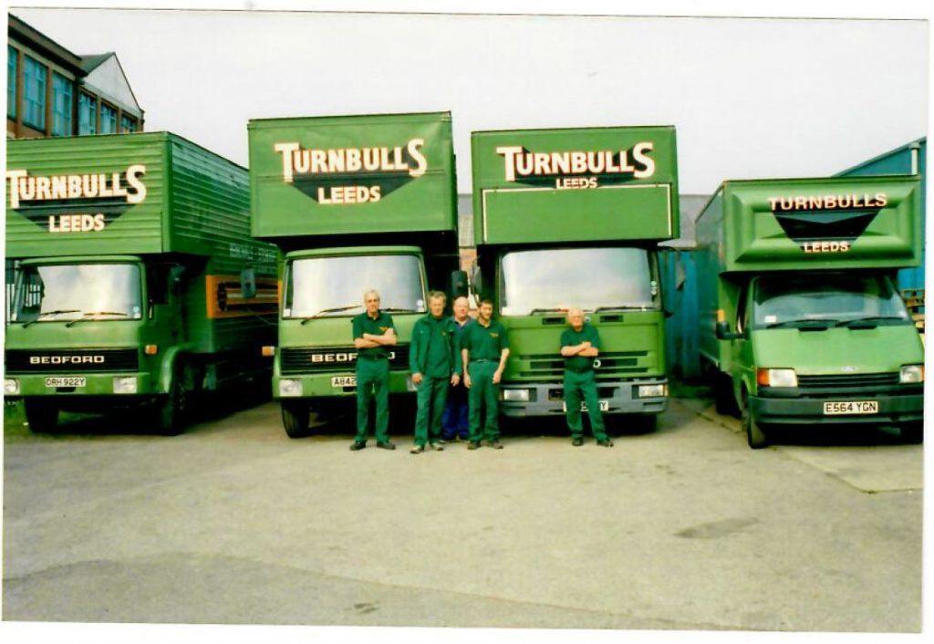 Coloured Turnbull's Removals Vans 1