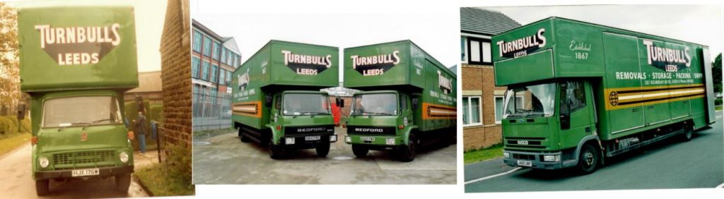 Coloured Turnbull's Removals Vans 2