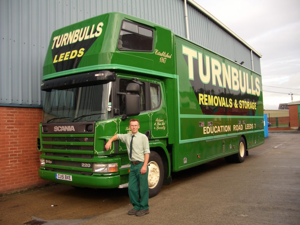 Coloured Turnbull's Removals Vans 3